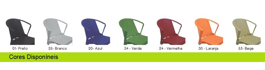 Shi cores disponíveis